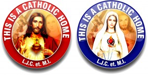 this is a Catholic Home Sticker