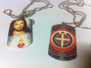 Dog Tags with Religious Images