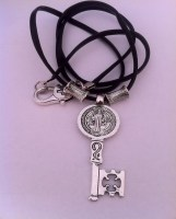 St Benedict Key Leather Chain